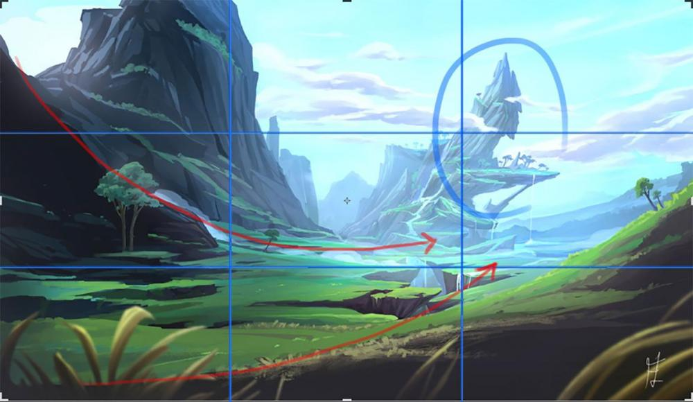 Learn from great artists and improve your artwork by studying their composition